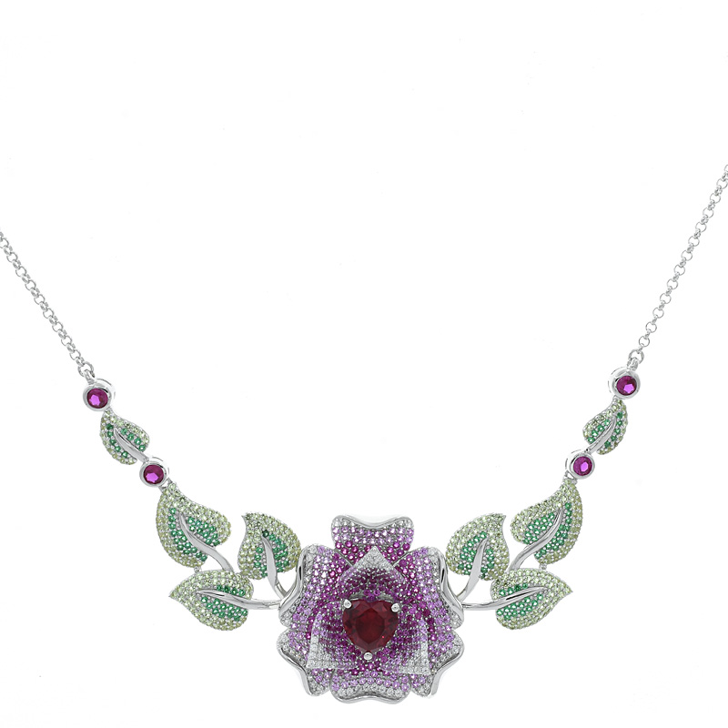 Women Rose Jewelry Necklace