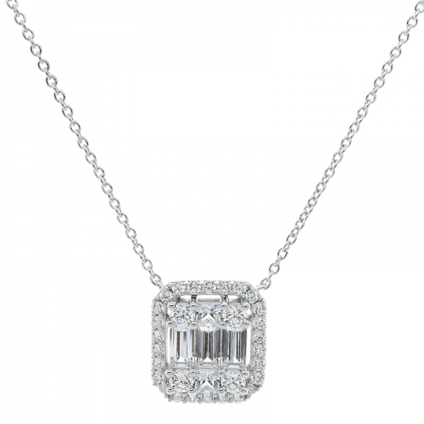 großhandel 925 sterling silver white cz necklace